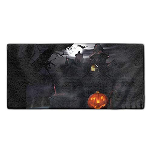 Washcloths Printed Design, Scary Halloween Hair Towel Soft Face Towel Perfect Gifts 11.8 X 27.5 inch ()
