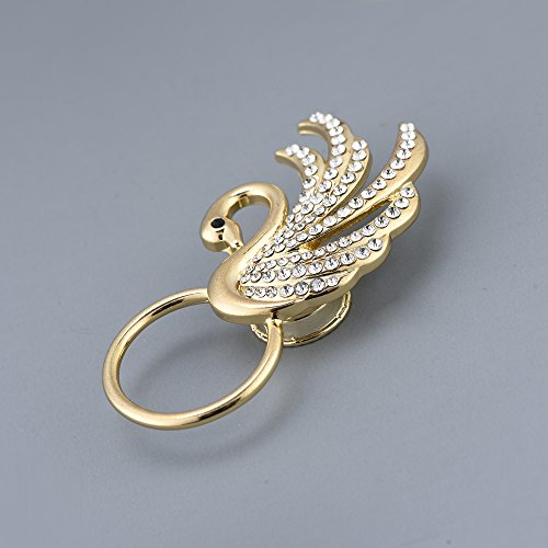 RUXIANG Swan Bird Magnetic Eyeglasses Holder Brooch Pin Jewelry for Women Girls (Gold) by RUXIANG (Image #3)