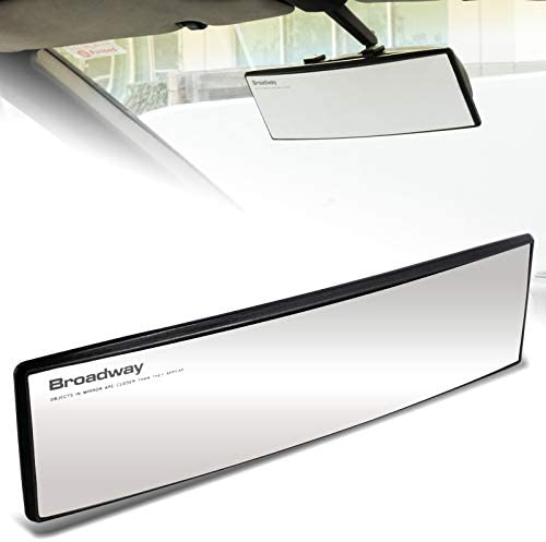 EPARTS Universal Broadway 270mm 11 Inch Interior Clear Convex Wide Angle Reduce Blind Spot Clip On Rear View Mirror