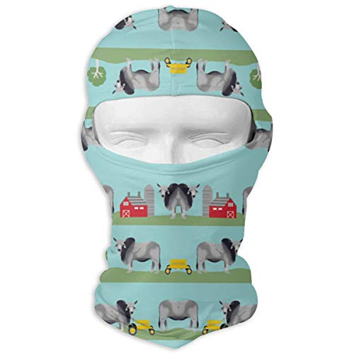 O-X_X-O Ideal Gift Brahman Cattle Fabric Farm Ranch Design Balaclava Full Face Mask Motorcycle Helmet Liner Breathable Multipurpose Outdoor Sports Wind Proof Dust Head Hood ()