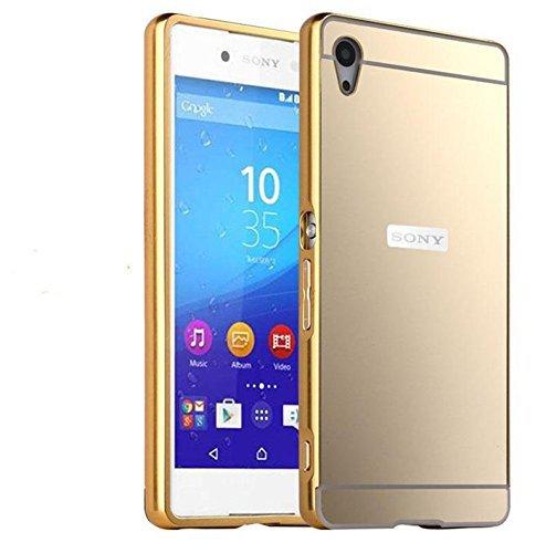 quality design 2a6b5 e2167 Johra For Sony Xperia Z2 Back Cover, Gold Golden Acrylic Mirror Back ...