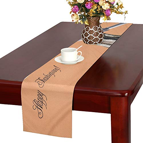 WHIOFE Card Note Design Featuring Little Chickadee Table Runner, Kitchen Dining Table Runner 16 X 72 Inch for Dinner Parties, Events, Decor