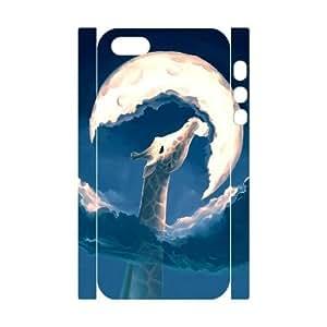 Cute Moon Personalized 3D Case for Iphone 5,5S, 3D Customized Cute Moon Case wangjiang maoyi