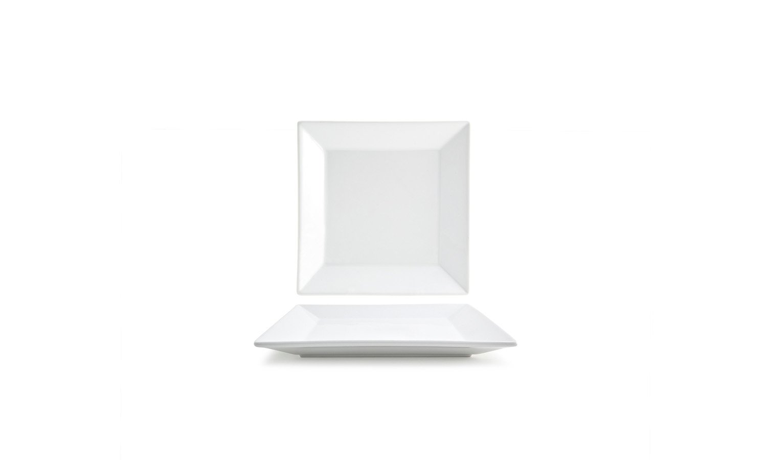 Front of the House DAP011WHP13 Kyoto Square Plate, 1'' Height, 8.5'' width, 8.5'' Length, Porcelain (Pack of 12)