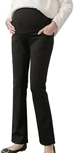 464b655704504 Maternity Women's Over The Belly Stretch Bootcut Career Dress Pants