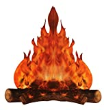 3-D large decorative cardboard campfire centerpiece 14