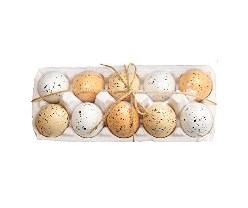 - Astra Gourmet Speckled Artificial Easter Eggs Party Favors Perfect for Easter Egg Surprise Hunt - Set of 10