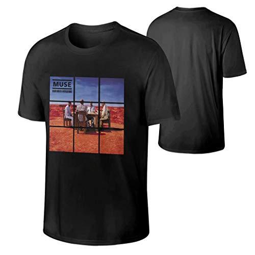 (Attohong Men's Muse Black Holes and Revelations Cotton Fashion T-Shirt)