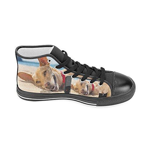 D-story Cane Chihuahua Personalizzato Rilassante E Riposante Scarpe Da Ginnastica Alte Classiche Scarpe Da Uomo Di Alta Moda