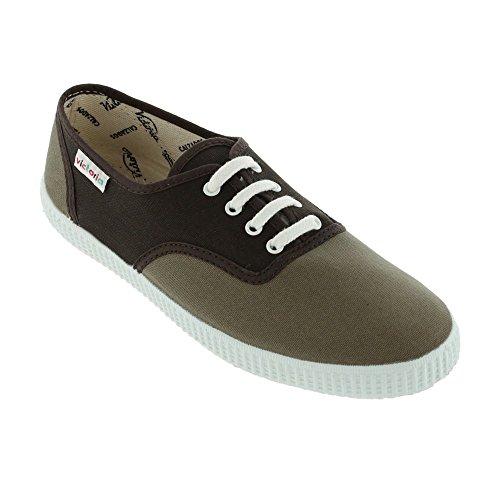 victoria Inglesa Bicolor - Zapatillas de tela unisex Chocolate