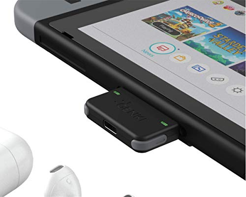 Genki Bluetooth Audio Adapter for the Nintendo Switch (Gray Buttons)