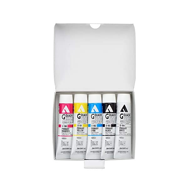Holbein-Acryla-Gouache-Mixing-Set-of-5-20Ml-D421