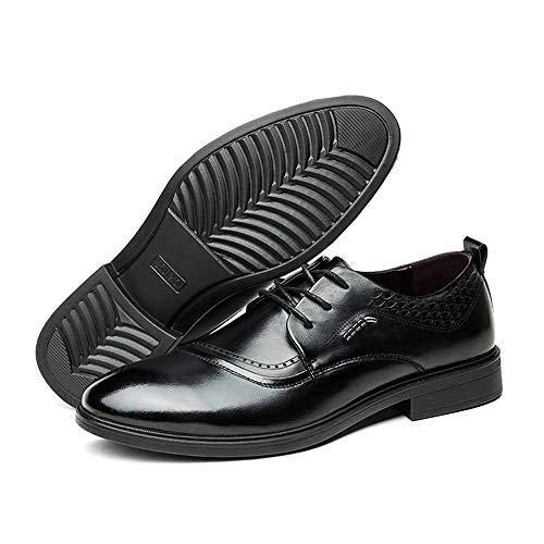 casual Scarpe Business da shoes pelle classiche EU Nero 42 Primavera in classica confortevoli Dimensione uomo Color Oxford inglesi 2018 Fang Nero Estate 6qXwAgw8I