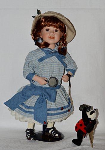 Boyds Bears Resin CALLIE W/ LADYBUG BACKYARD SAFARI 4942 Doll New from Boyds Bears