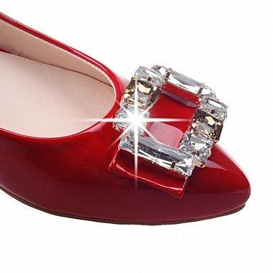 Cómodo y elegante soporte de zapatos de tacón para mujer primavera verano otoño plataforma comodidad diseño de charol piel sintética boda oficina y carrera partido y vestido de noche Casual color carne