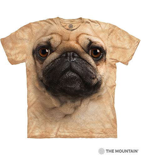 The Mountain Pug Face Adult T-Shirt, Tan, Medium for $<!--$18.70-->