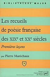 Les recueils de poésie française des XIXème et XXème siècles