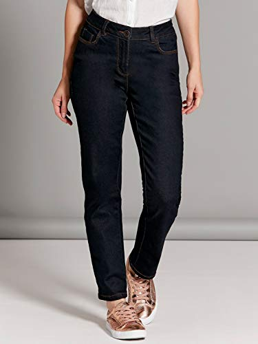 amp;Co Dark Leg Straight Indigo Ladies Size Classic Stretch Cotton M Denim Indigo Wash Jeans Petite fd0wqnx