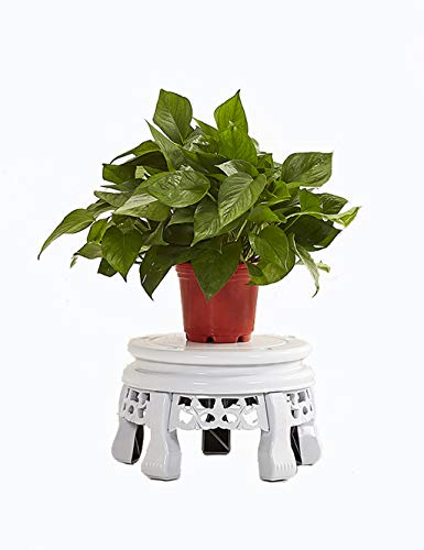 AMour Light Plant Frame European Iron Flower Pot Holder Flower Stand Outdoor and Indoor Plant Display Stand (White) (Size : 22cmX30cmX20cm) by AMour Light
