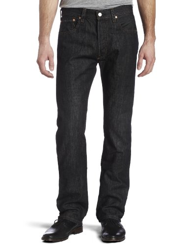 Levi's Men's 501 Original Fit Jean, Iconic Black, 36x34
