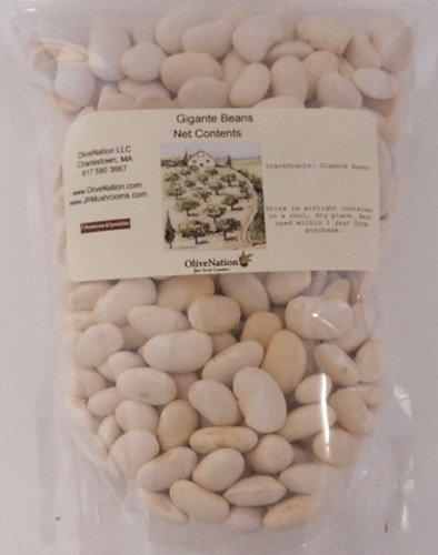 Gigante Bean by OliveNation - Large, Flat White Beans - Size of 2 lbs - Dried gigante beans, Gigante beans are large and flat white beans