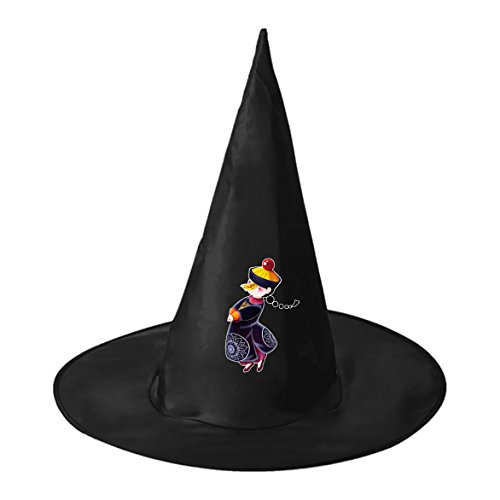 Homemade Chinese Costumes For Kids (Chinese Qing Dynasty Zombie Conical Cosplay Witch Hat Toy to Halloween Costume Ball for Unisex Kids Adults)