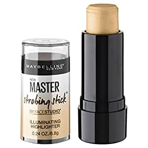 Maybelline Makeup Facestudio Master Strobing Stick, Medium - Nude Glow Highlighter, 0.24 oz.