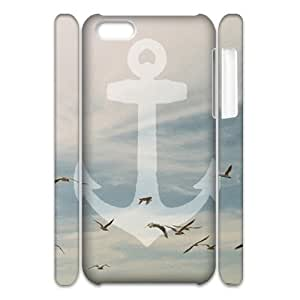 LJF phone case Sailor Anchor DIY 3D Cover Case for Iphone 5C,personalized phone case ygtg575642