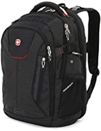 "5358 USB ScanSmart Laptop Backpack. Abrasion-Resistant & Travel-Friendly Laptop Backpack (18"", Black/Red)."