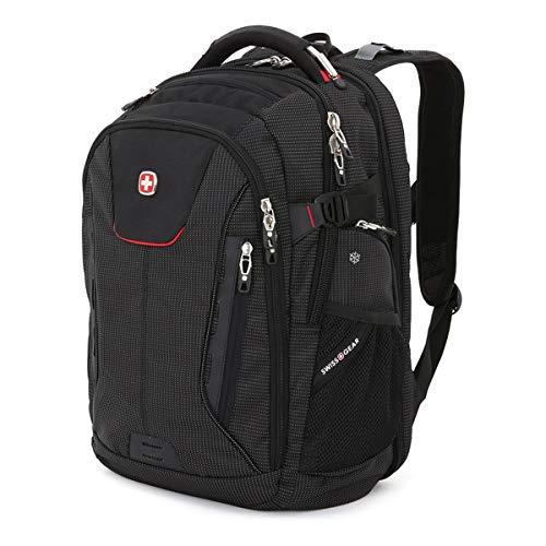"""SwissGear 5358 USB ScanSmart Laptop Backpack. Abrasion-Resistant & Travel-Friendly Laptop Backpack (18"""", Black/Red). ()"""