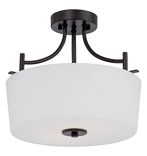 Biscayne Bronze Cassina 2 Light Semi-Flush Ceiling Fixture ()