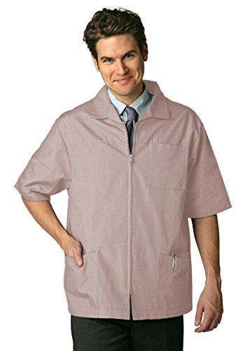 Adar Universal Men's Zippered Short Sleeve Jacket - 607 - Khaki - M