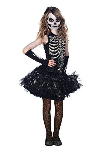 Girl Costumes Riddler (Cutie Bones Glowing Skeleton Tutu Kids)