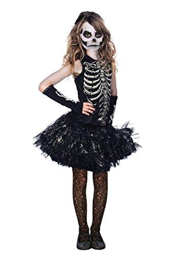 Girl Riddler Costumes (Cutie Bones Glowing Skeleton Tutu Kids)