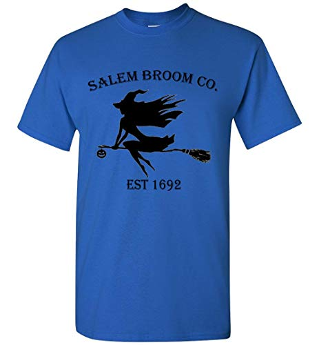 Halloween Salem Broom co est 1692 Gift Idea T-Shirt Adult and Youth Size