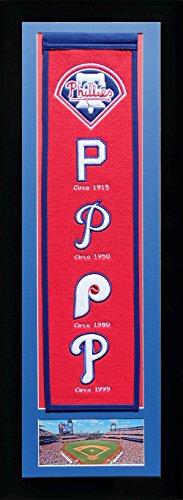 Legends Never Die MLB Philadelphia Phillies Team Heritage Banner with Photo, Team Colors, 15
