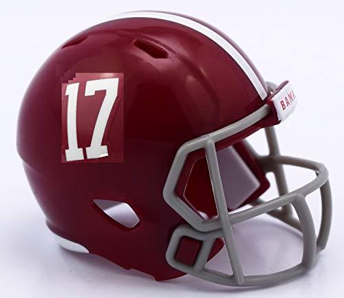 Alabama Crimson Tide #17 Revolution Mini Pocket Pro Helmet ()