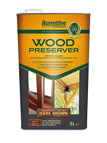 Barrettine Premier Wood Preserver Dark Brown 5l
