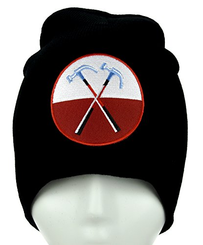 The Wall Hammers Marching Beanie Alternative Clothing Knit Cap Pink (Marching Hammers)