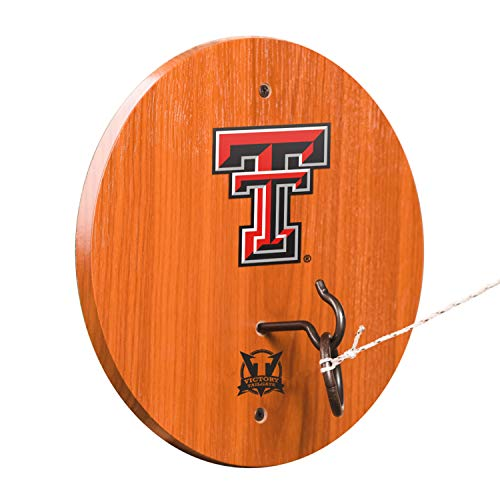 Texas Tech Red Raiders Ring - Victory Tailgate Texas Tech Red Raiders Hook & Ring Toss - All Wood Target with Rubbed Bronze Hook and Ring - More Colleges Available