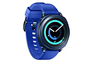 Samsung Gear Sport Smartwatch Fitness Tracker- Water Resistant - International Version- No Warranty- Blue (SM-R600NZBATTT)