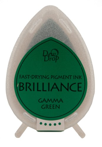 Tsukineko Brilliance Dew Drop Inkpad, Gamma Green