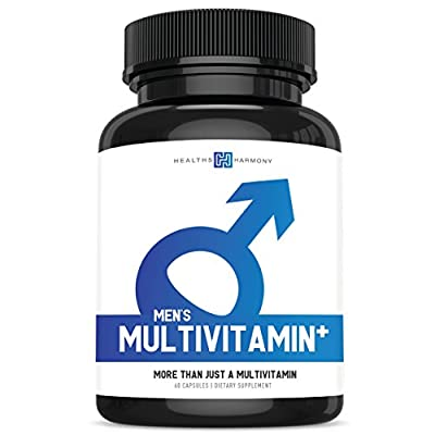 Men's Multivitamin+ (NON-GMO) Daily Vitamins & Minerals Plus Energy Boost, Prostate Support, Eye Health & Antioxidants with Saw Palmetto, Zinc, Lutein For Men - 60 Capsules - Multi Tablet