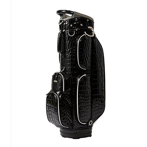 オウル カートバッグ アリゲーター 8.5型 OUUL 5WAY CART BAG ALLIGATOR COLLECTION AL8ACT  BLACK B07D2B5K98
