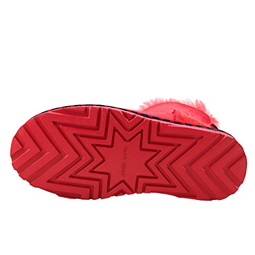 Antisdrucciolo D5079 Da Donna Caldo Scarpe Con Rosso Stivali Neve Invernali Shenduo zC0qIw5