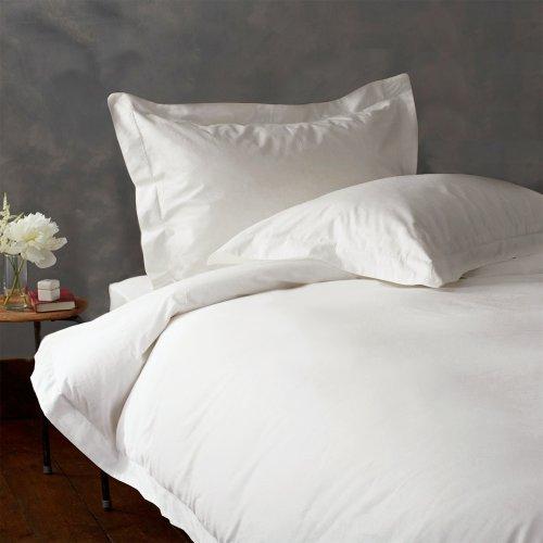 Nice LACASA BEDDING 800 TC Egyptian cotton Flat Sheet Italian Finish Solid ( Queen , White ) hot sale
