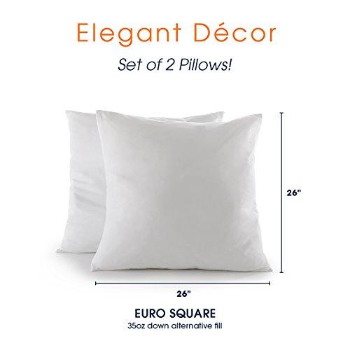 Buy 26x26 pillow insert down alternative