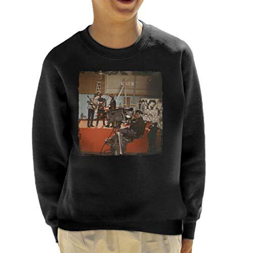 TV Times The Beatles Ready Steady Go Rehearsal Kid's Sweatshirt Black