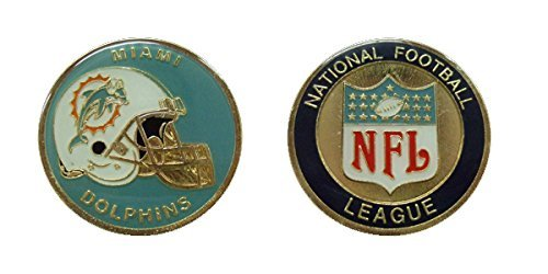 Dolphins Collectible Challenge Coin- Logo Poker - Lucky Chip