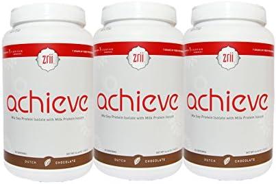 Zrii Achieve - Juego de 3 proteínas de chocolate holandesas ...